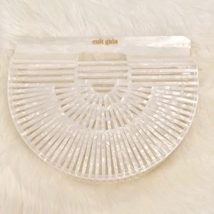 Cult Gaia Mother of Pearl Arc Bag (small)